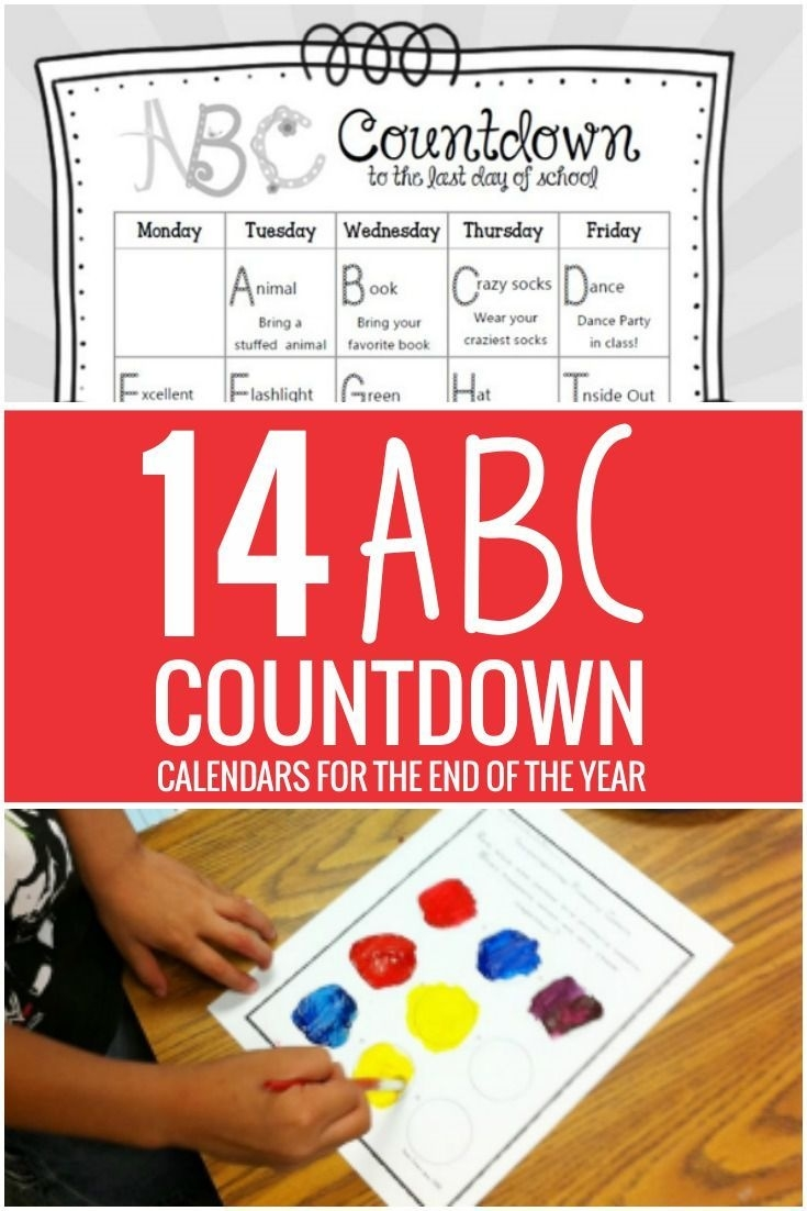 14 Alphabet Countdown Calendars: Here Comes The End Of The Year_Countdown Calendar To End Of Year