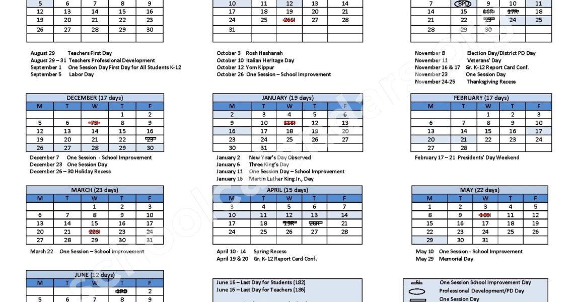 2016 - 2017 School Calendar | Bridgeport School District_School Calendar Bridgeport Ct