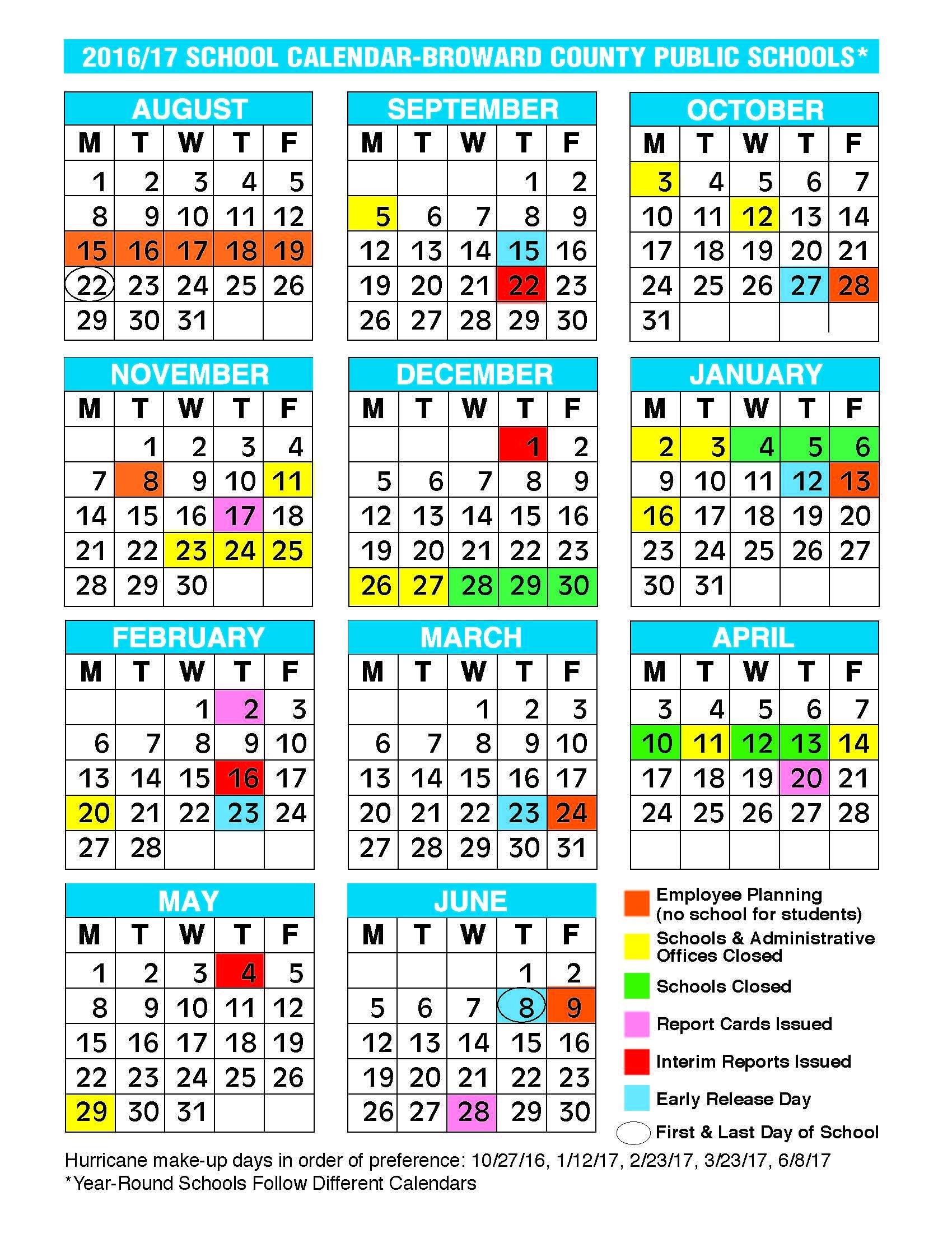 2017 2018 School Calendar Broward 2017 2016 School Calendar Broward_Calendar School 2020 Broward
