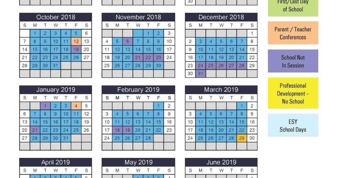 2018–19 School Calendar - Catapult Learning_School Calendar Baltimore City
