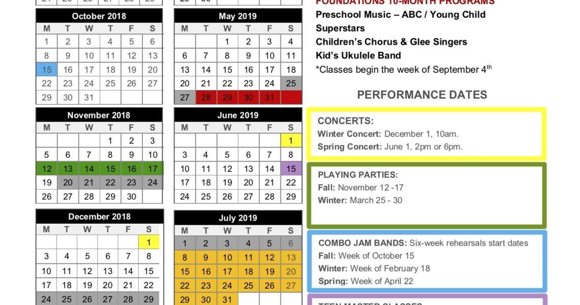 2018-19 School Year Calendar - Vancouver Ridgefield Camas Wa Copy_School Calendar Vancouver Wa