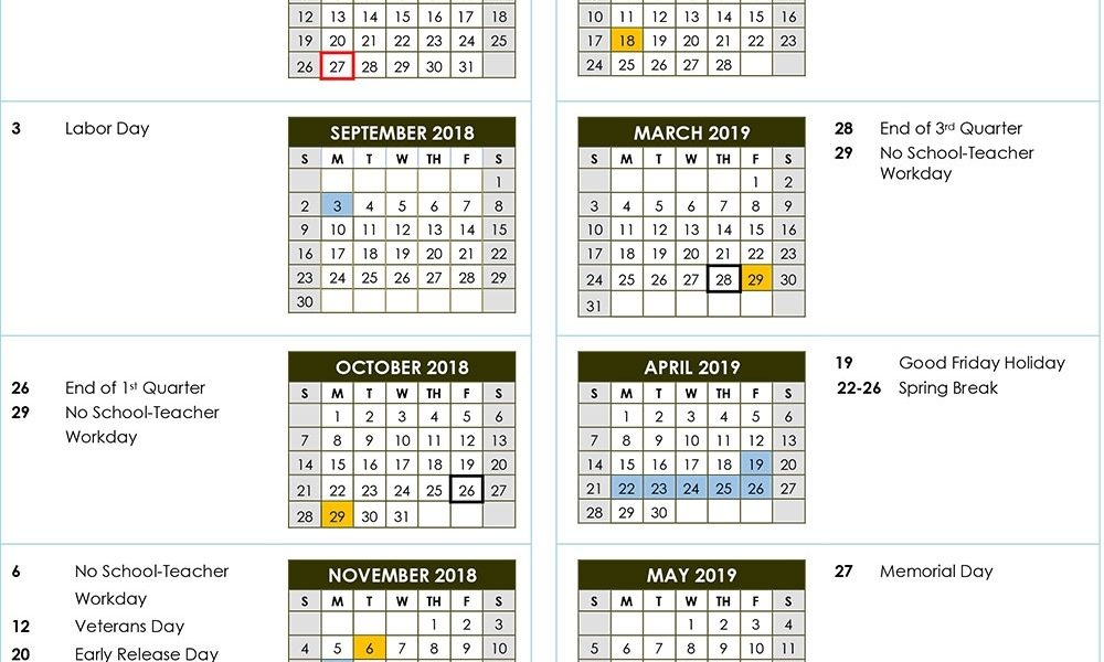 2018-2019 Calendars | Rss Post - Rowan-Salisbury Schools_Is 7 School Calendar