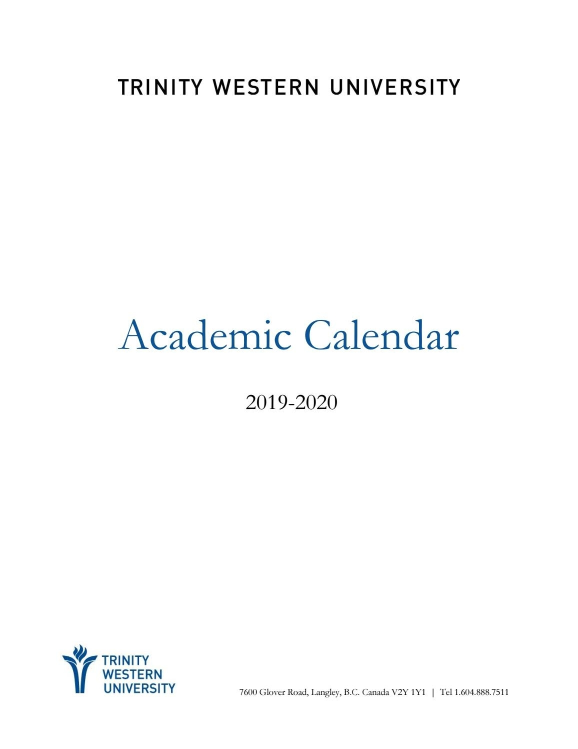 2019-20 Academic Calendar By Twu - Issuu_157 C School Calendar