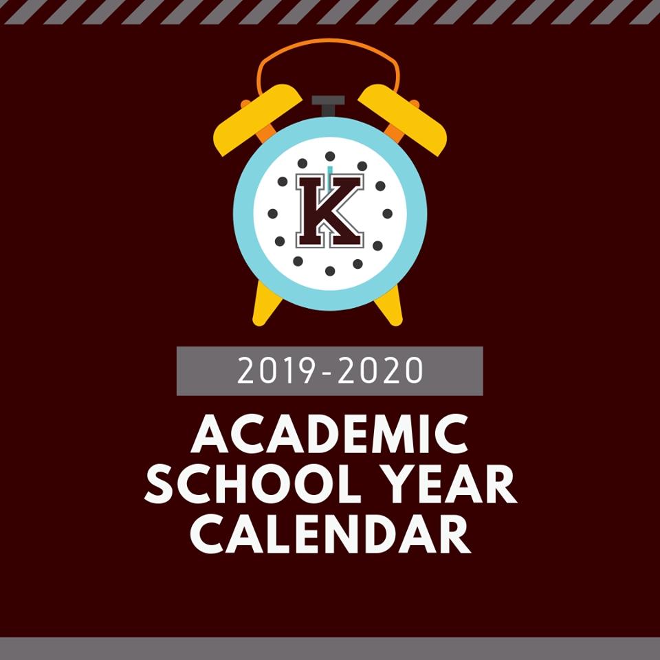 2019-2020 Academic School Year Calendar - Kenedy Independent School_D'hanis Isd School Calendar