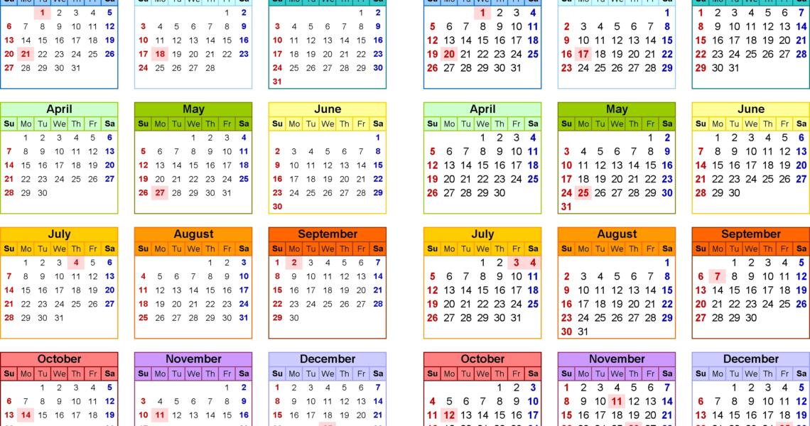 2019-2020 Calendar - Free Printable Two-Year Pdf Calendars_Calendar Template School Year 2020-18