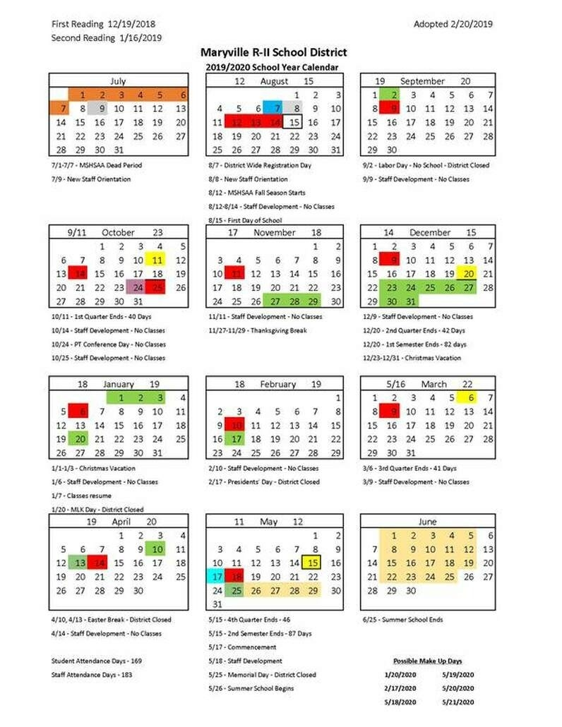 2019-2020 Calendar_Calendar School District 42