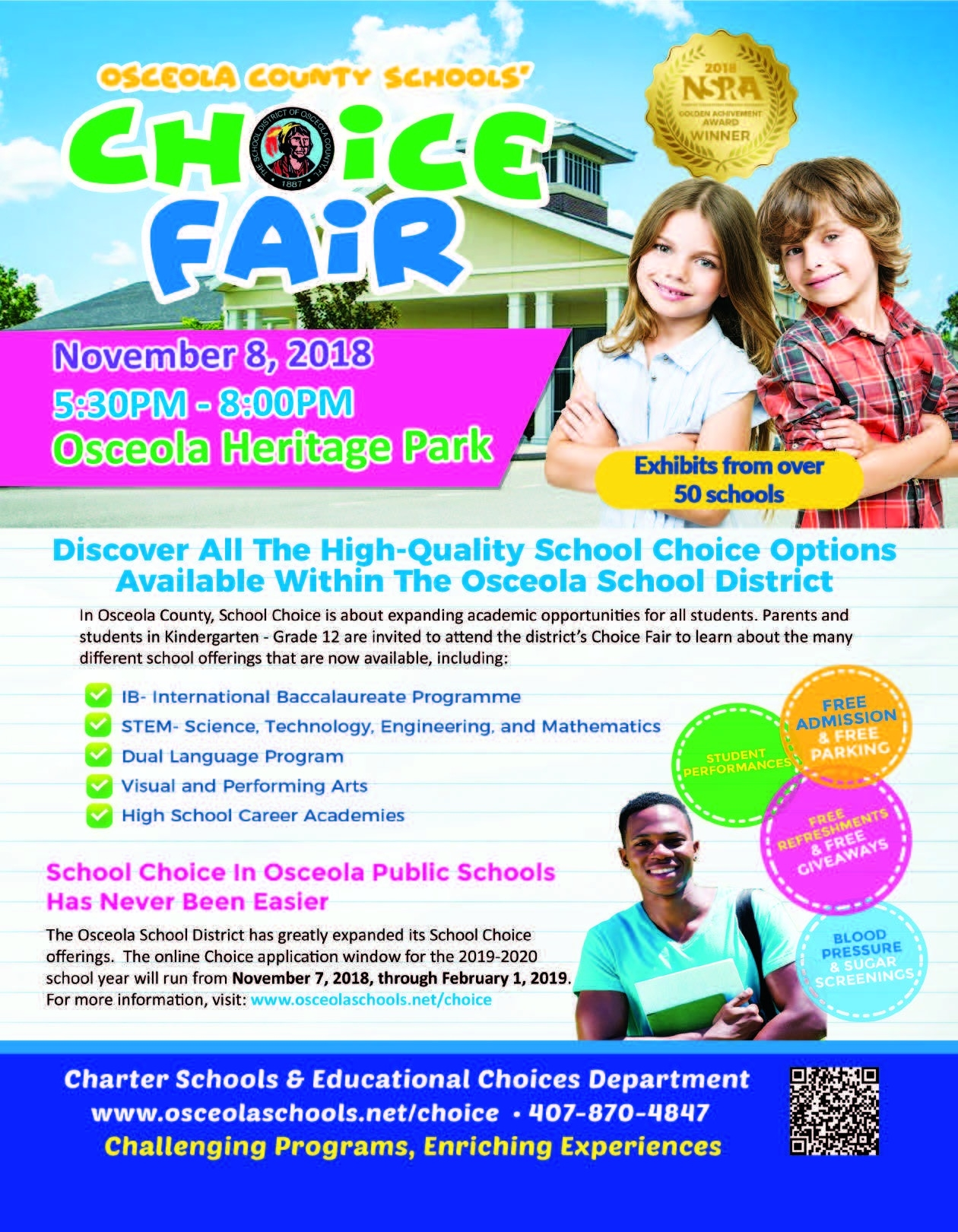 2019-2020 Choice Programs Flyer - School District Of Osceola County_School Calendar Osceola County 2020