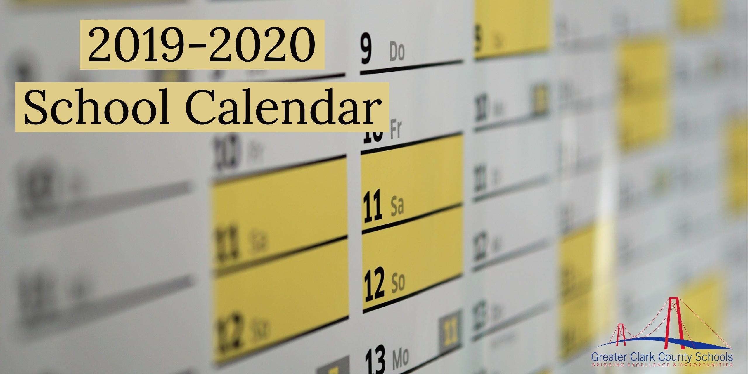2019-2020 School Calendar – Greater Clark County Schools_School Calendar Osceola County 2020