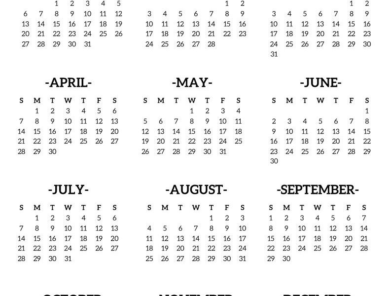 2019-Desk-Calendar-One-Page | Free Printables | Calendar 2019_Printing A Calendar Page