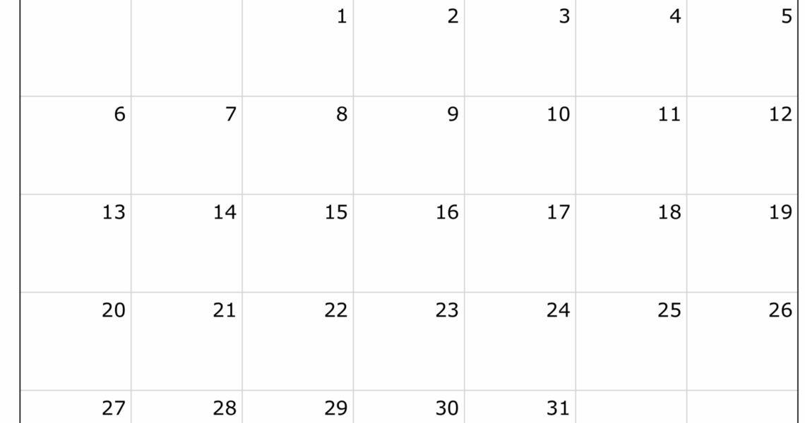2019 Free Printable Calendar Templates - A Mother's Random Thoughts_8 X 11 Blank Calendar Template