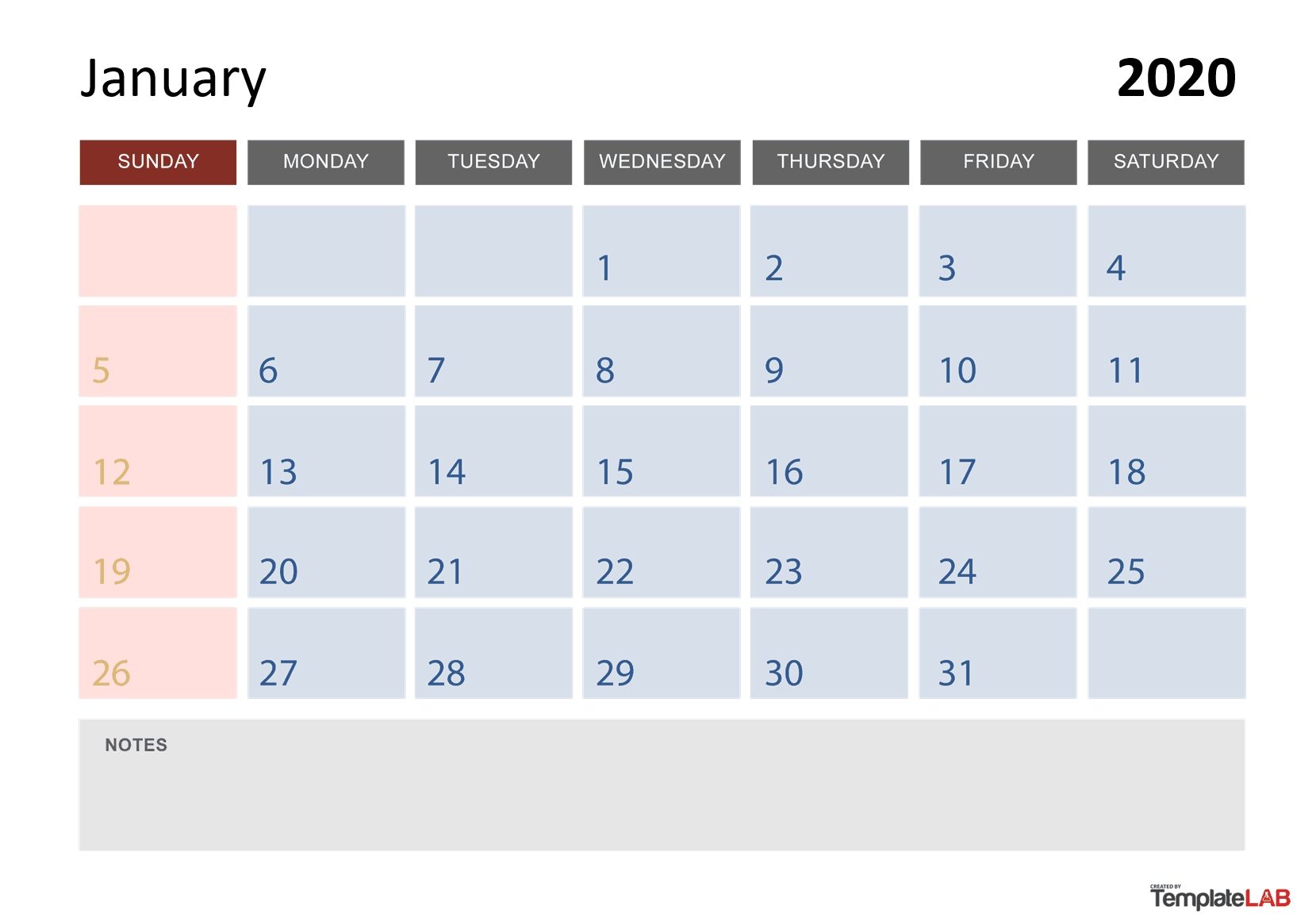 2020 Printable Calendars [Monthly, With Holidays, Yearly] ᐅ_Monthly Calendar Blank 2020