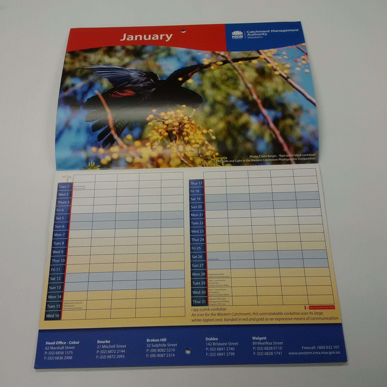 28Pp A4 Wall Calendar - Progress Printing_A4 Wall Calendar Printing