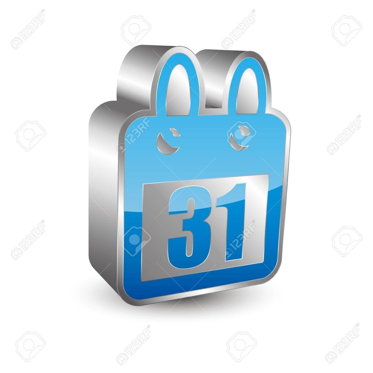 3D Calendar Icon_3D Calendar Icon Vector