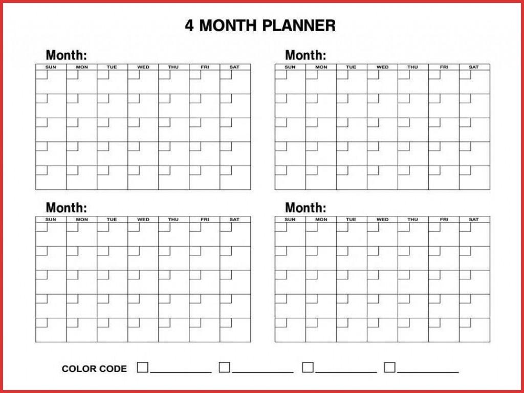4 Month Blank Calendar - Yeder.berglauf-Verband_4 Month Blank Calendar