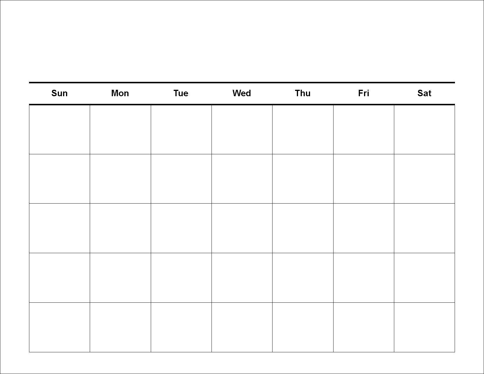 4 Weekly Calendar Printable Blank Calendar Template Photo Drumaw For_4 Week Blank Calendar Printable