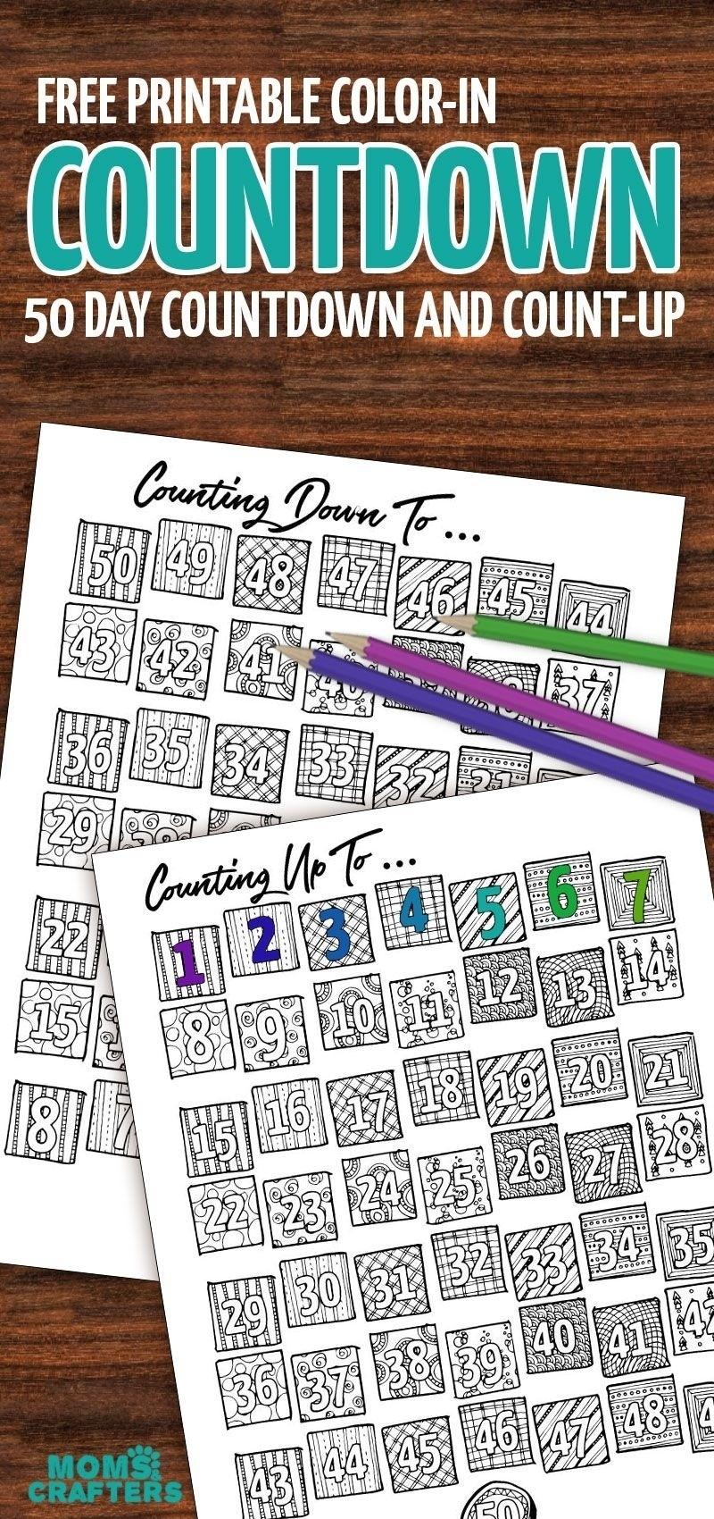 6 Month Countdown Calendar • Printable Blank Calendar Template_6 Month Countdown Calendar