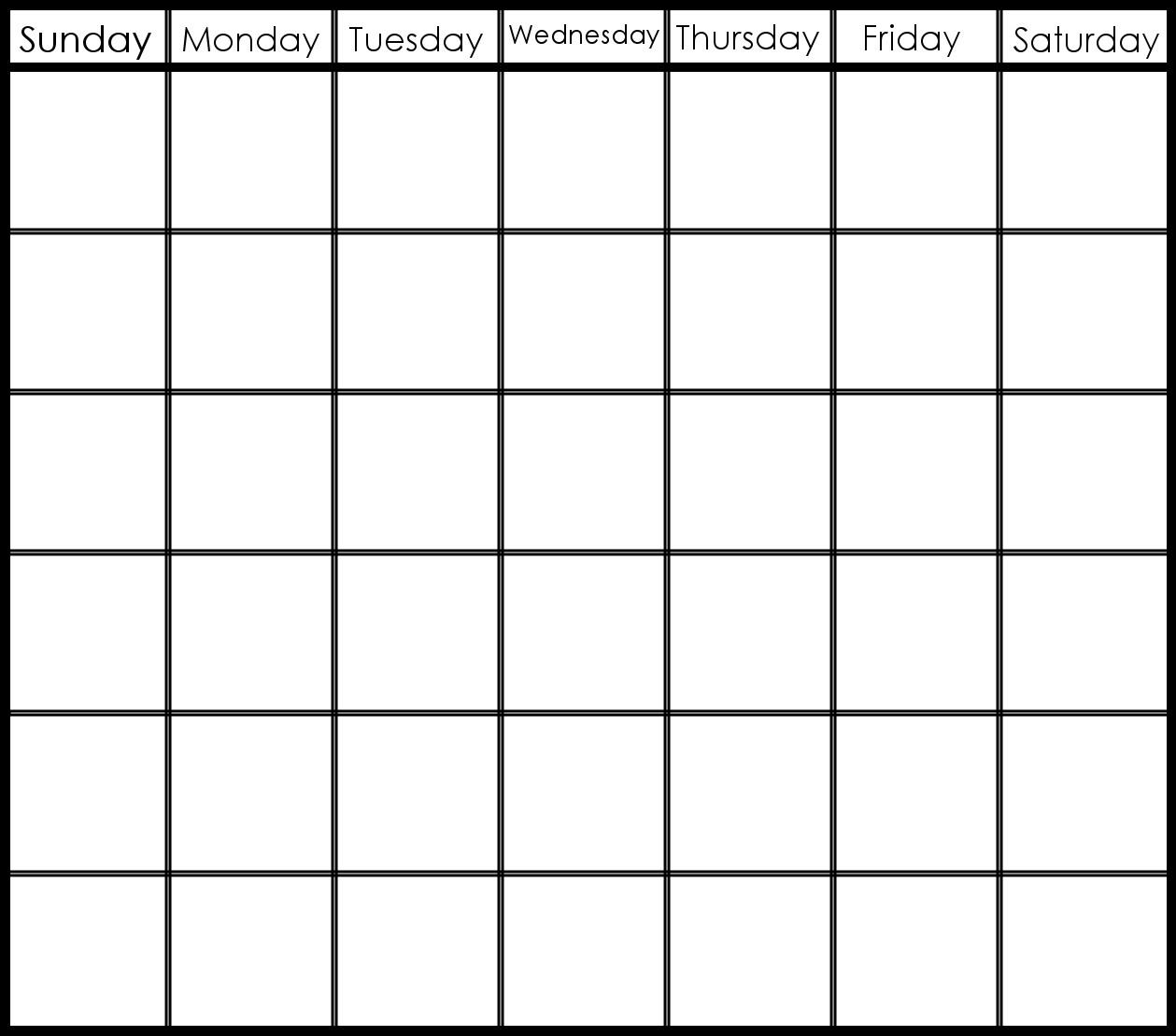 6 Week Printable Calendar | Printable Calendar Templates 2019-6 Week_Blank Calendar Template 6 Weeks
