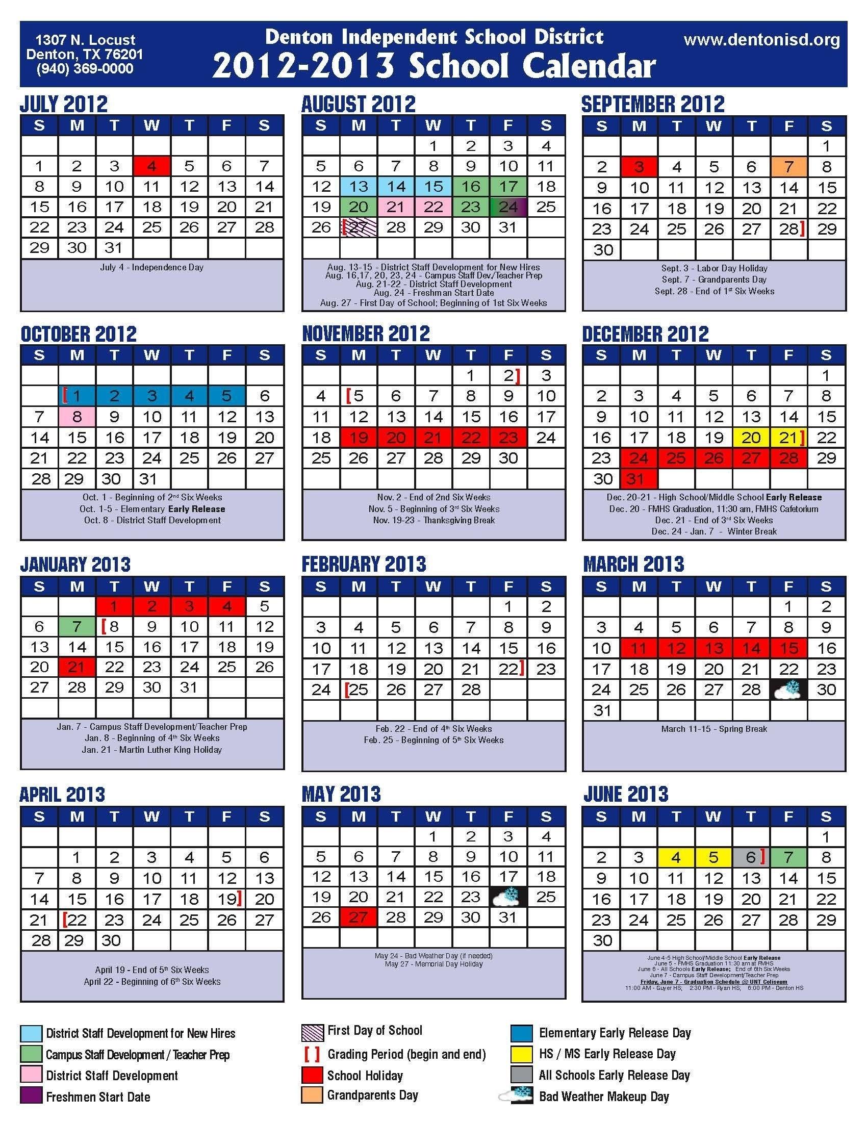 Academic Calendar Disd  </p>   </div>        <br>     <div class=