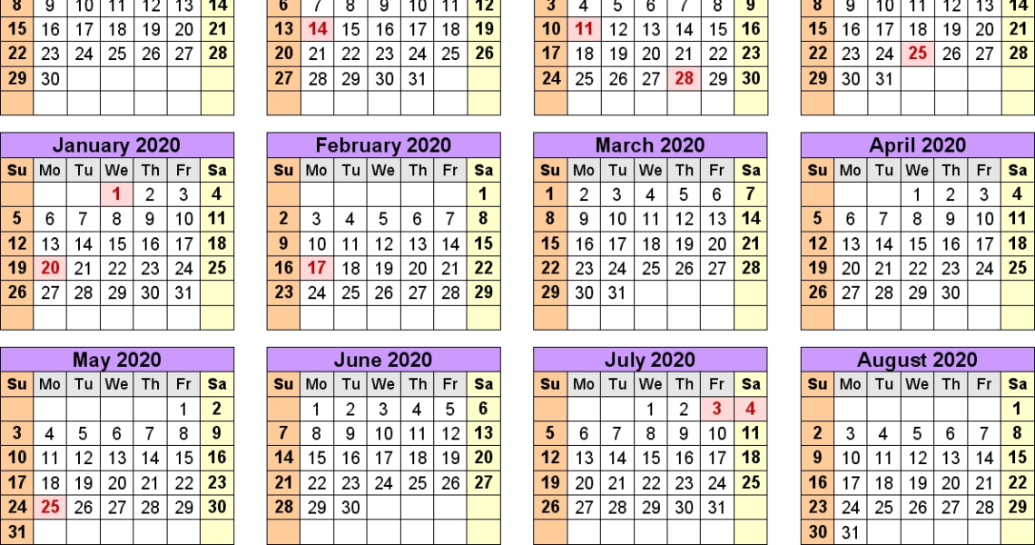 Academic Calendars 2019/2020 - Free Printable Excel Templates_Unit 5 School Calendar 2020-18