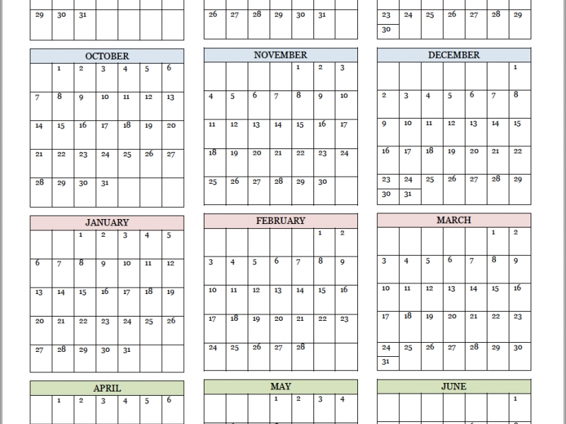 Academic Calendars For 2018-19 School Year (Free Printable) | School_Free Printable Calendar Homeschool