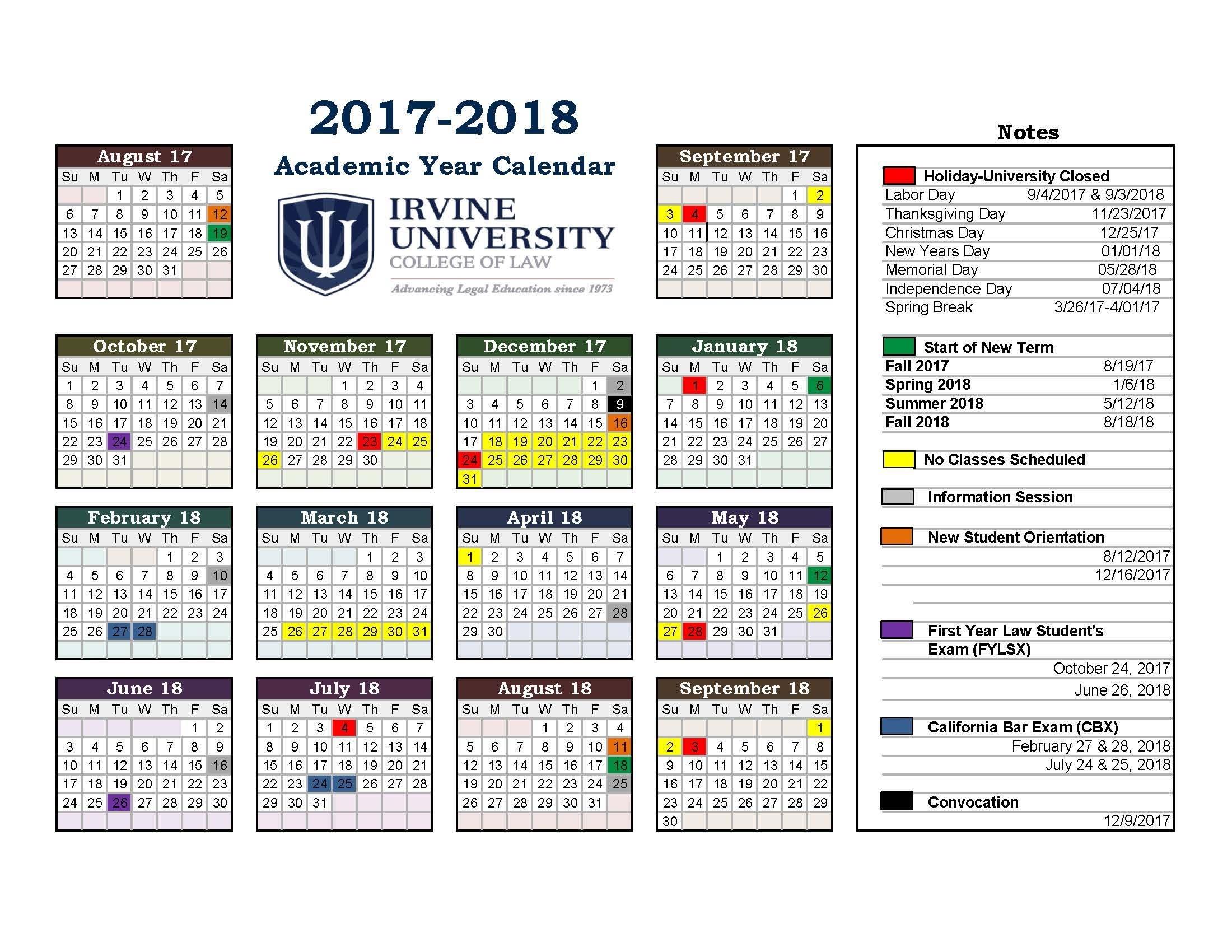 Academic Callender - Ataum.berglauf-Verband_U Of A School Year Calendar