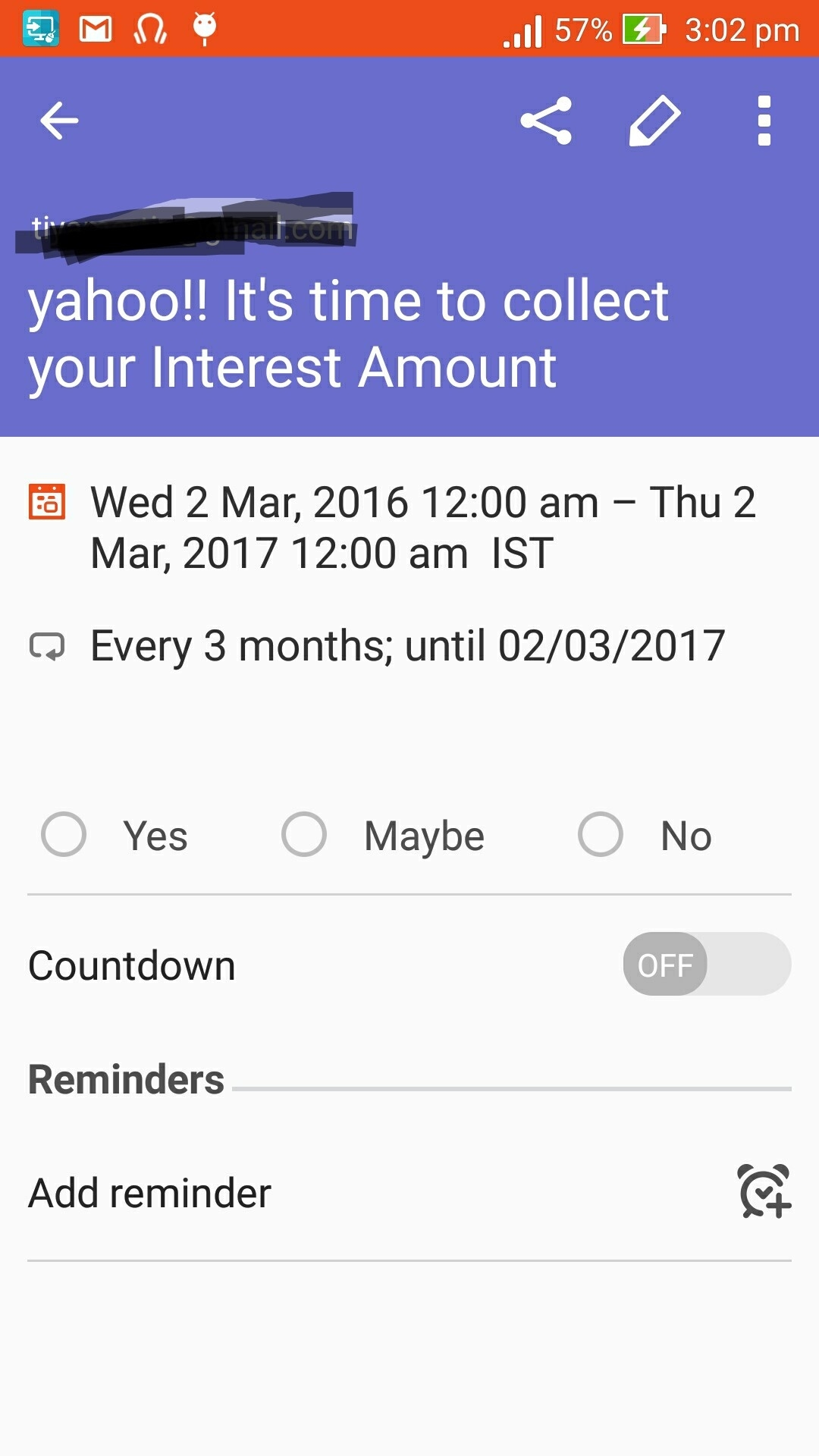 Adding Events For All Days Between Start Date And End Date In Google_Google Calendar Countdown Android