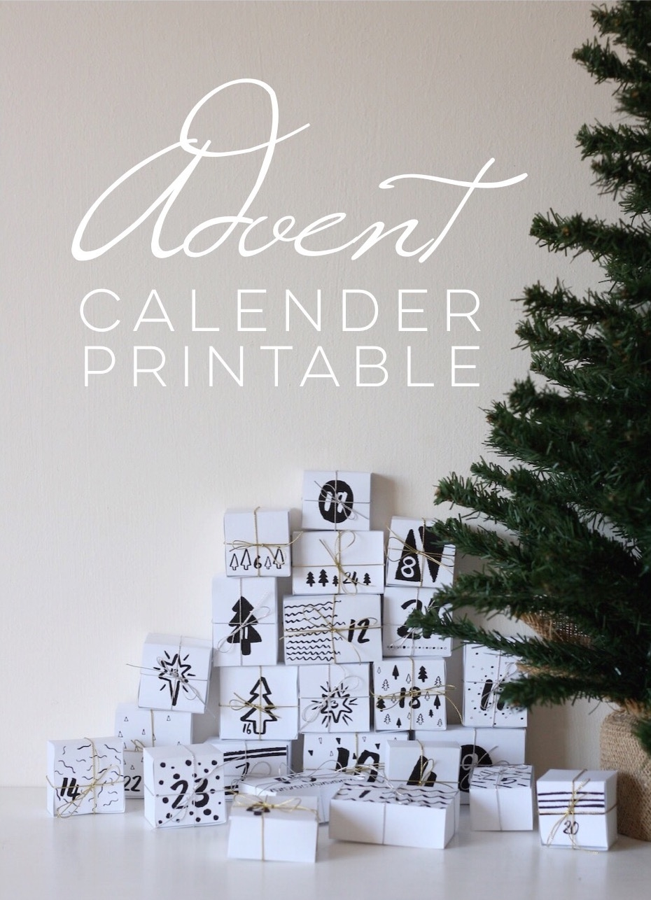 Advent Calendar Diy Printable // Free Download - Pure Sweet Joy_Calendar Countdown Free Download