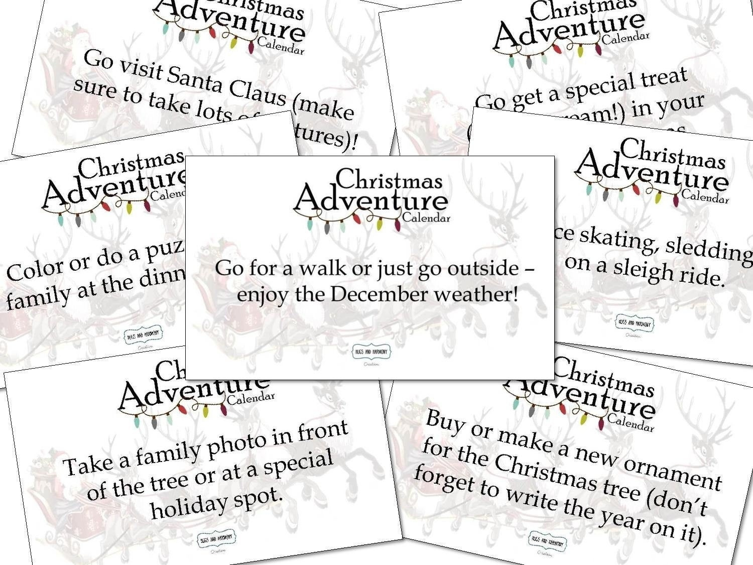 Advent Countdown Calendar Activity Card Pack With 65 Adventures And Free  Shipping_Calendar Countdown To Buy