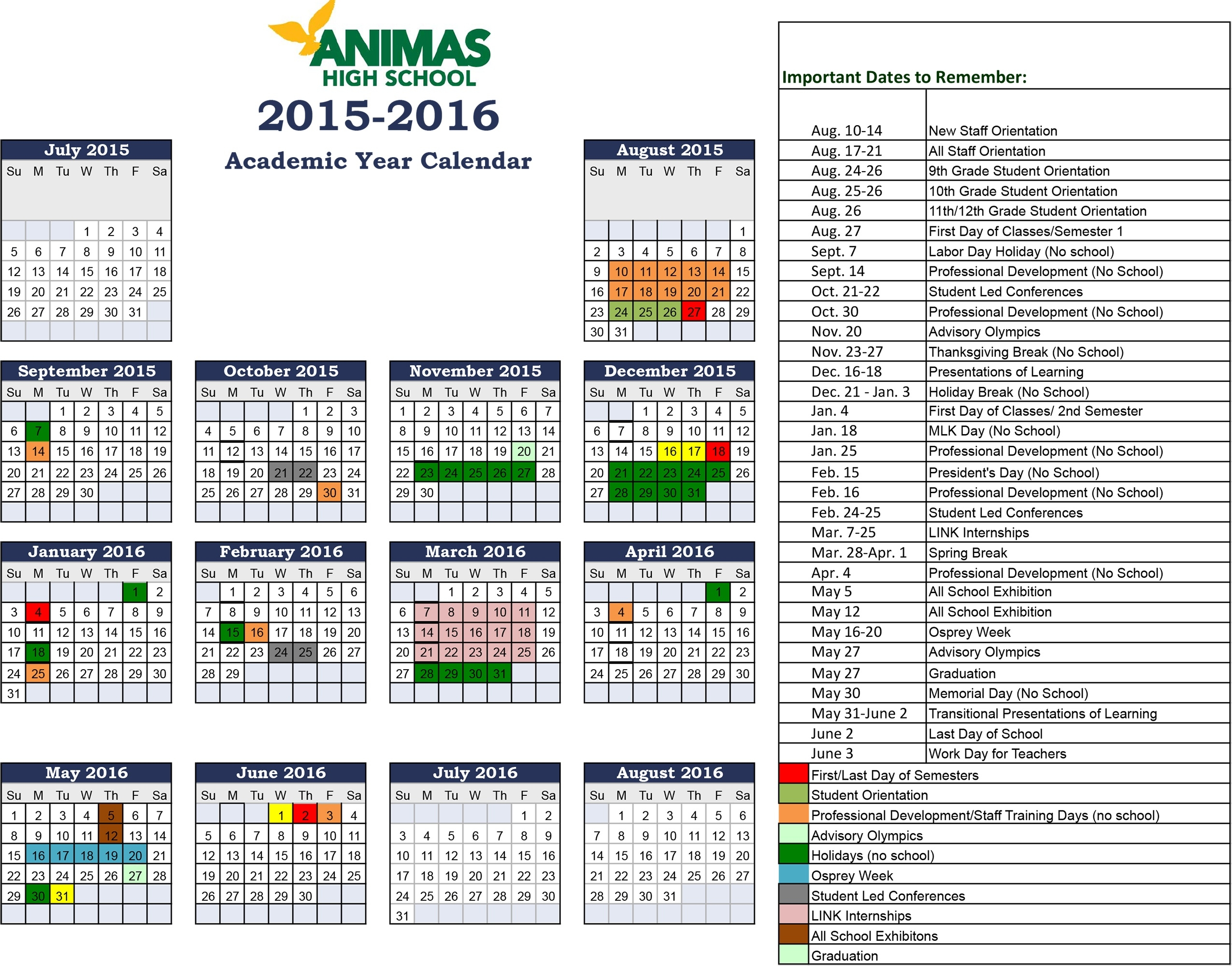 Ahs 2015-2016 School Calendar | Animas High School_Nest M School Calendar