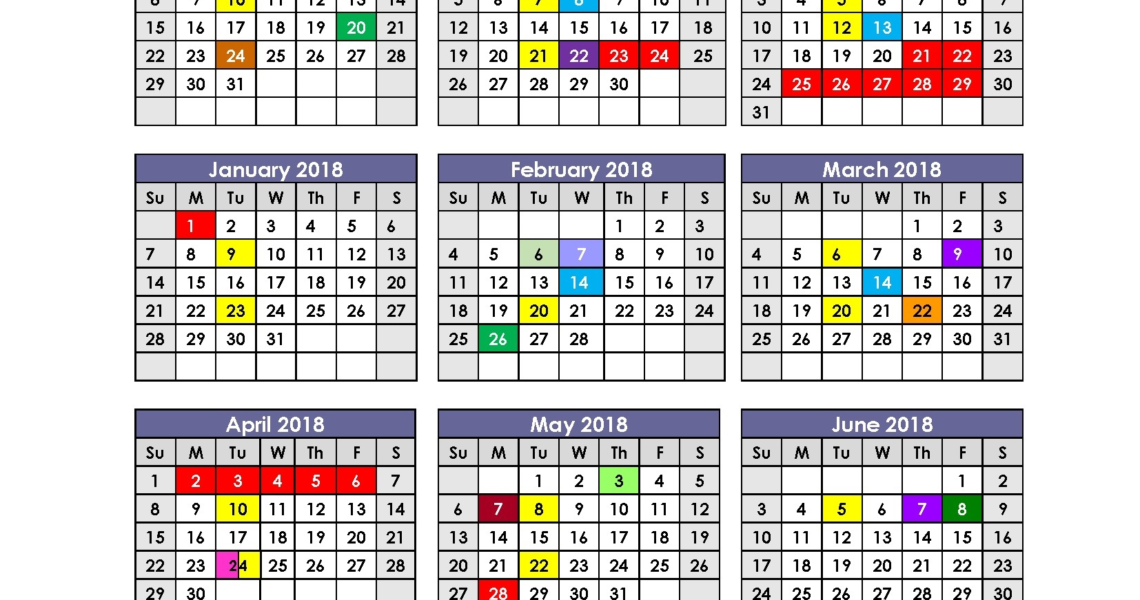Aiken County School Calendar 2018 Printable For Complimentary_School Calendar Aiken County