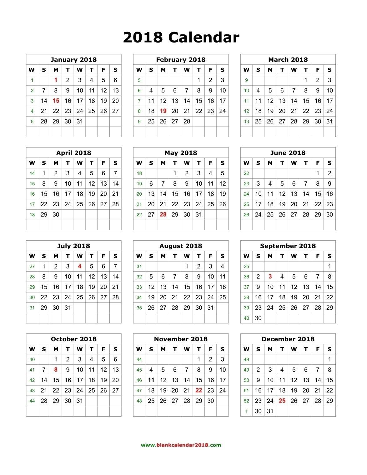 Annual Calendar 2019 Portrait Printable Calendar 2017 2018 2019 By_4 Week Calendar Blank