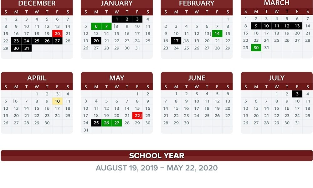 Annual School Calendar / 2019-20 Annual Calendars_School District 2 Calendar 2020