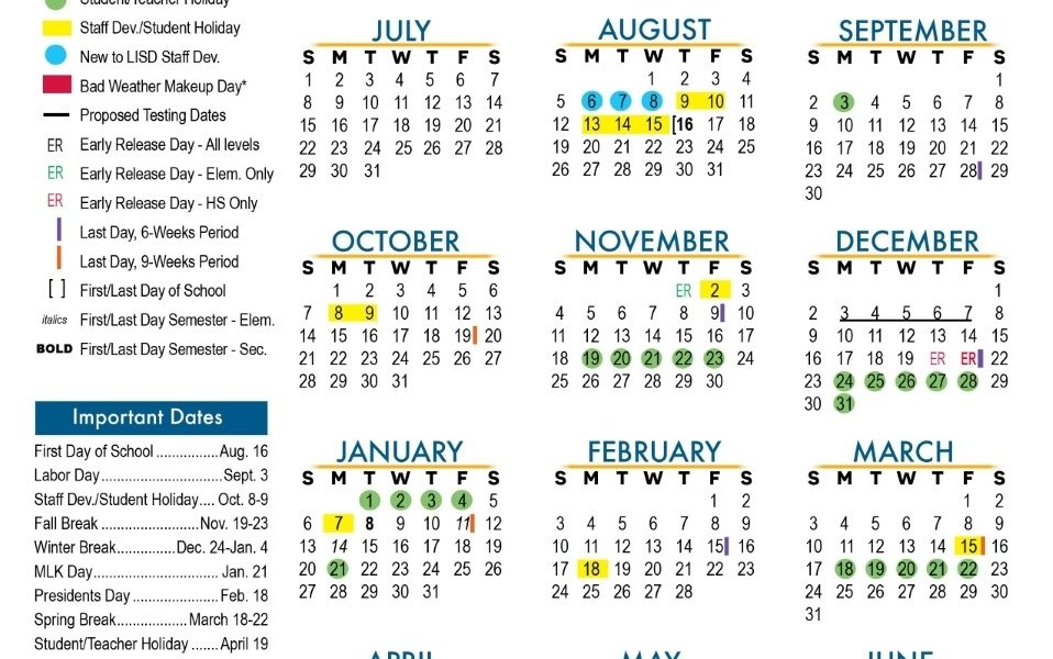 Approved 2018-2019 Calendar - Leander Independent School District_District 9 School Calendar