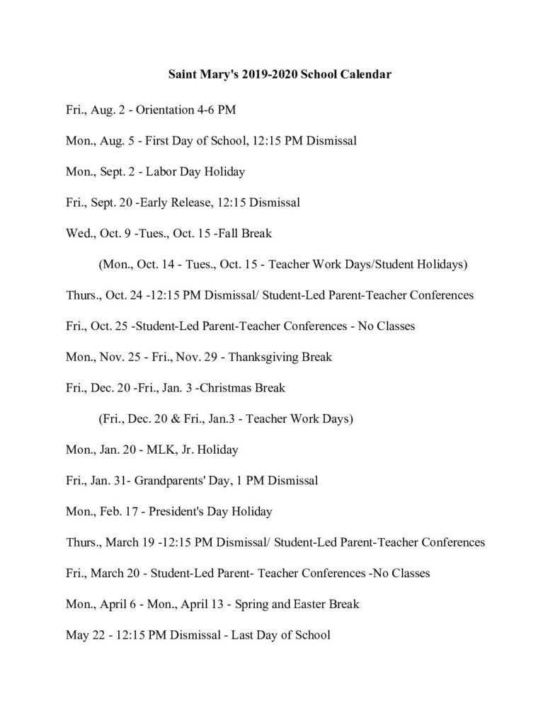 April 2019 To March 2020 Calendar With Holidays - School Year_School Calendar 2020-19 Deped