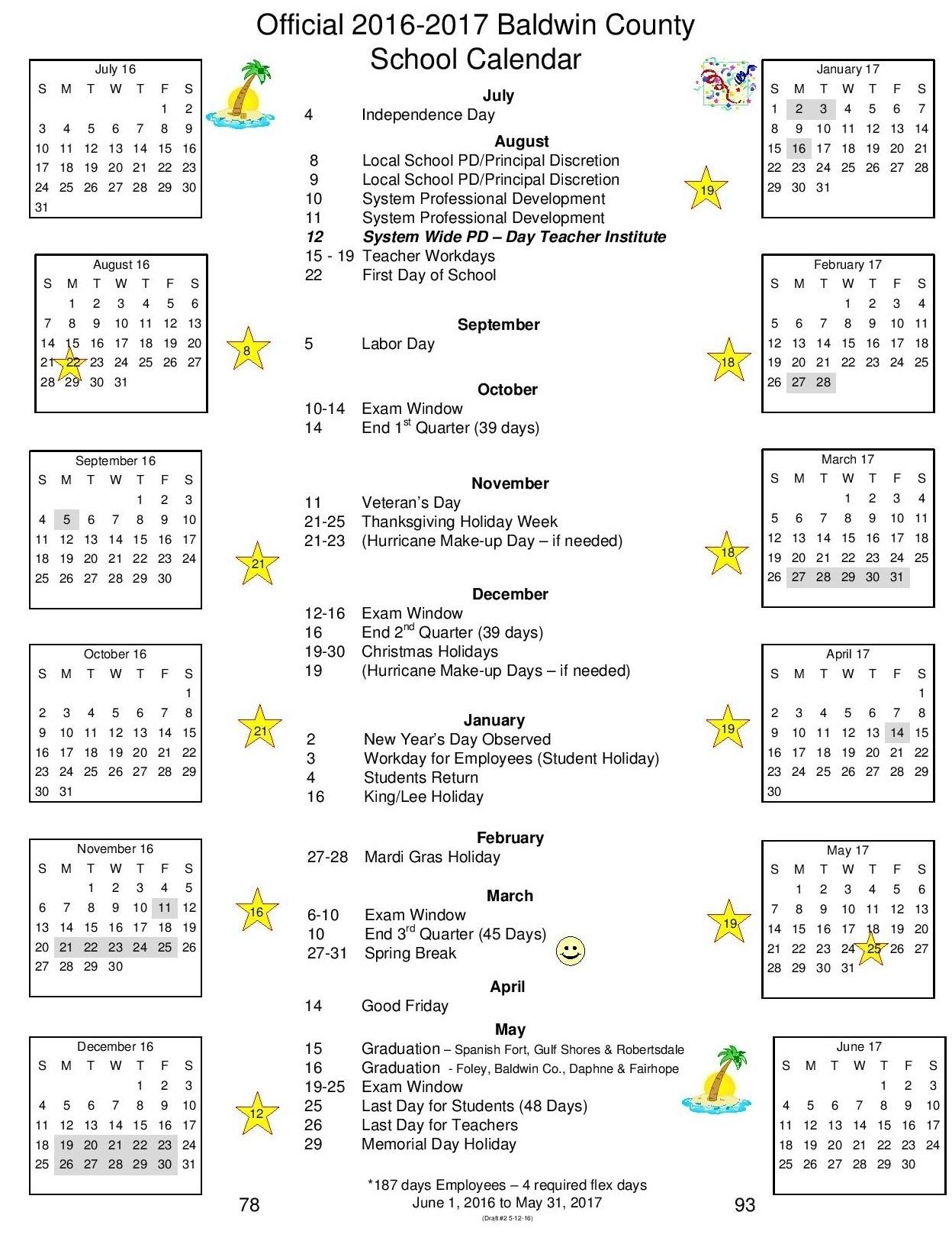Baldwin County School Calendar | Isacl_School Calendar Baldwin County