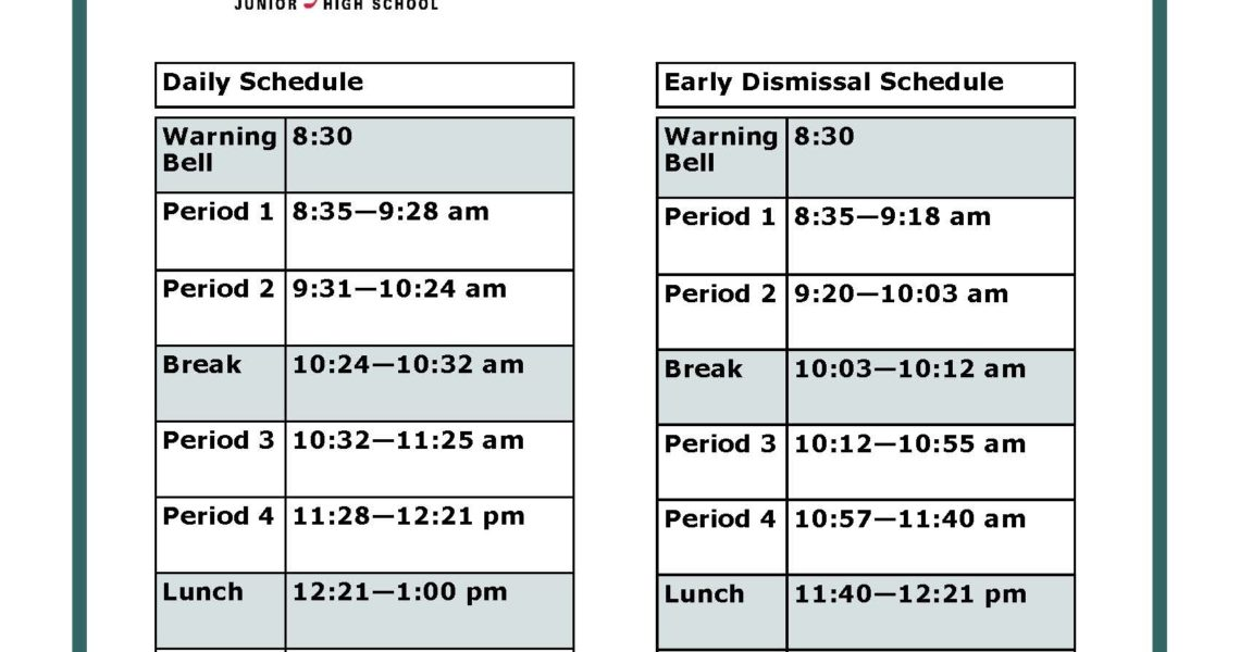Bell Schedule | F.r. Haythorne Junior High_F R Haythorne School Calendar