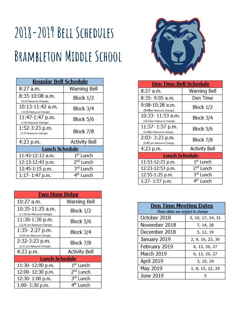 Bell Schedule_School Calendar Loudoun County