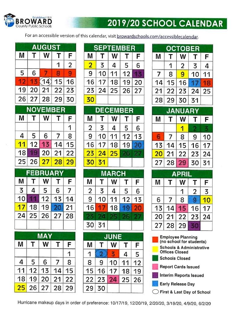 Ben Gamla Charter School South_Calendar School Broward 2020