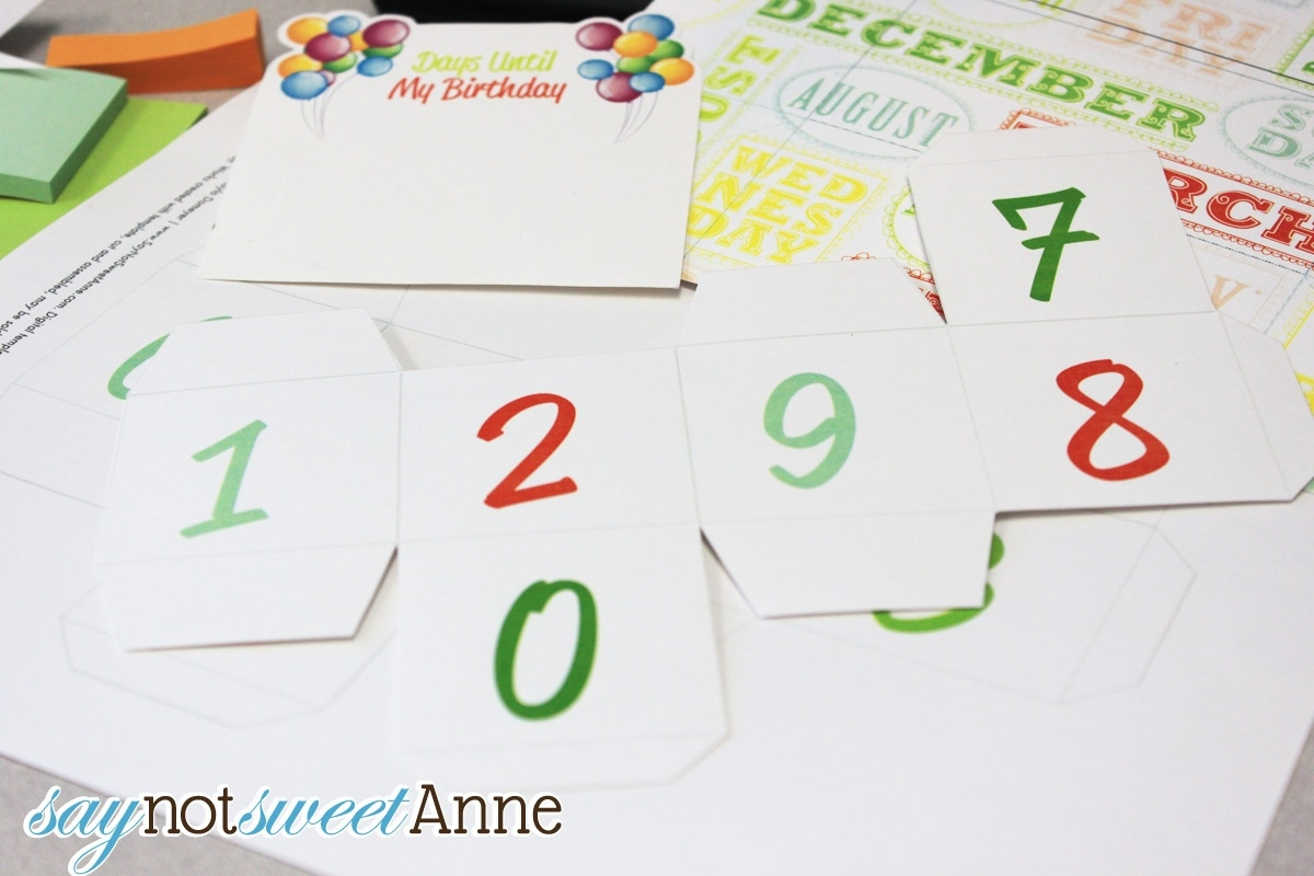 Birthday Countdown Blocks [Free Printable] - Sweet Anne Designs_Countdown Calendar Birthday Printable