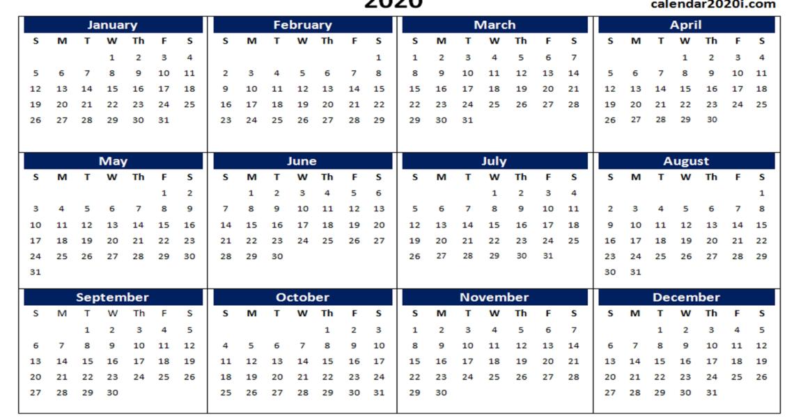 Blank 2020 Calendar Printable Templates | Calendar 2020_Calendar Blank 2020 Word