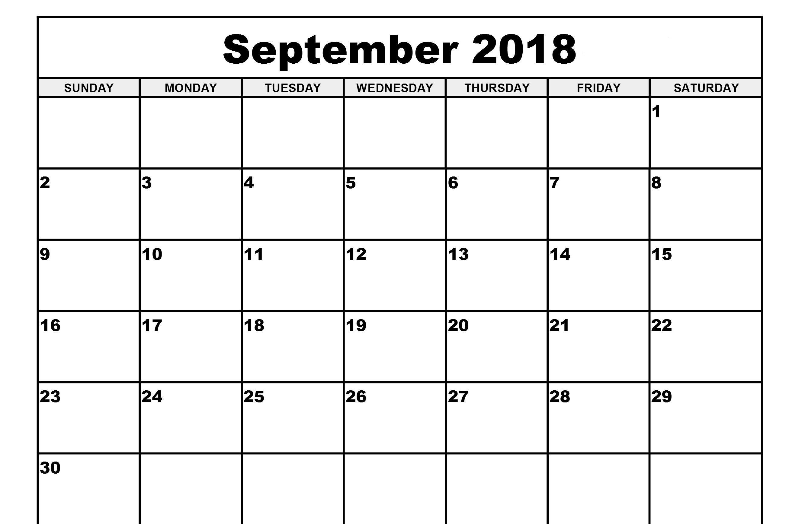 Blank Calendar 2018 September – Printable Calendar 2018-19  </p>   </div>        <br>     <div class=