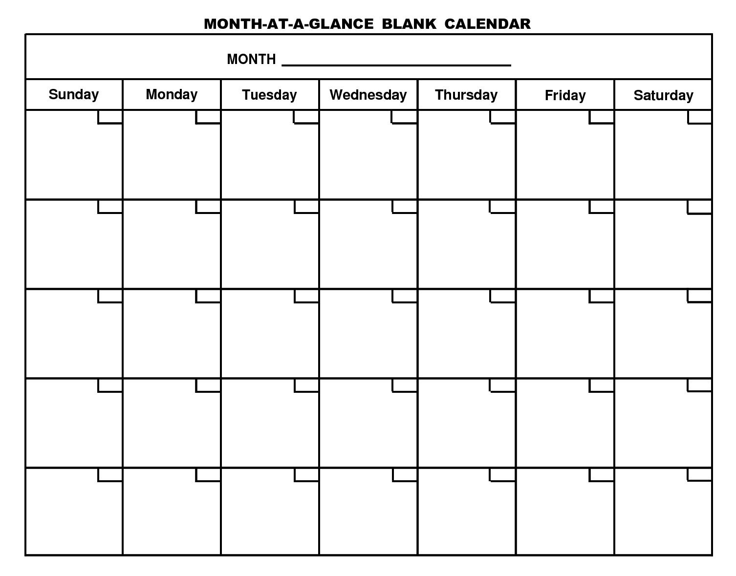 Blank Calendar Page - Ataum.berglauf-Verband_Print A Blank Calendar Page