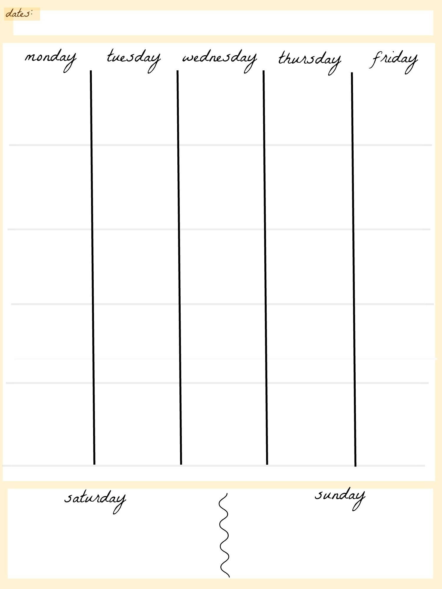 Blank Calendar Template 5 Day Week Weekly Calendar 5 Day Travel Cal1_5 Week Blank Calendar Template