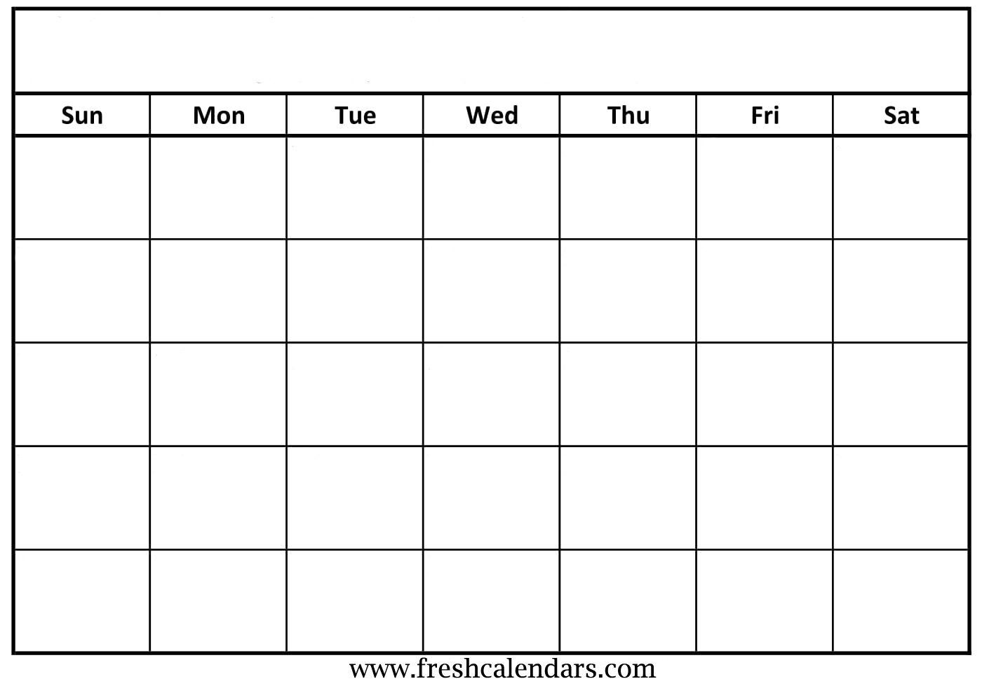 Blank Calendar: Wonderfully Printable 2019 Templates_A Printable Blank Calendar