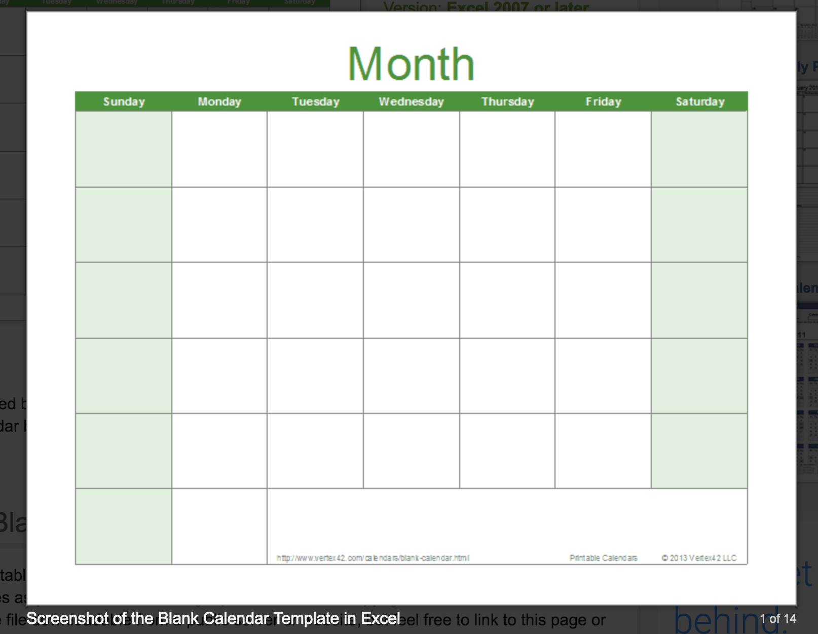 Blank Calendar: Wonderfully Printable 2019 Templates_Large Blank Calendar Grid