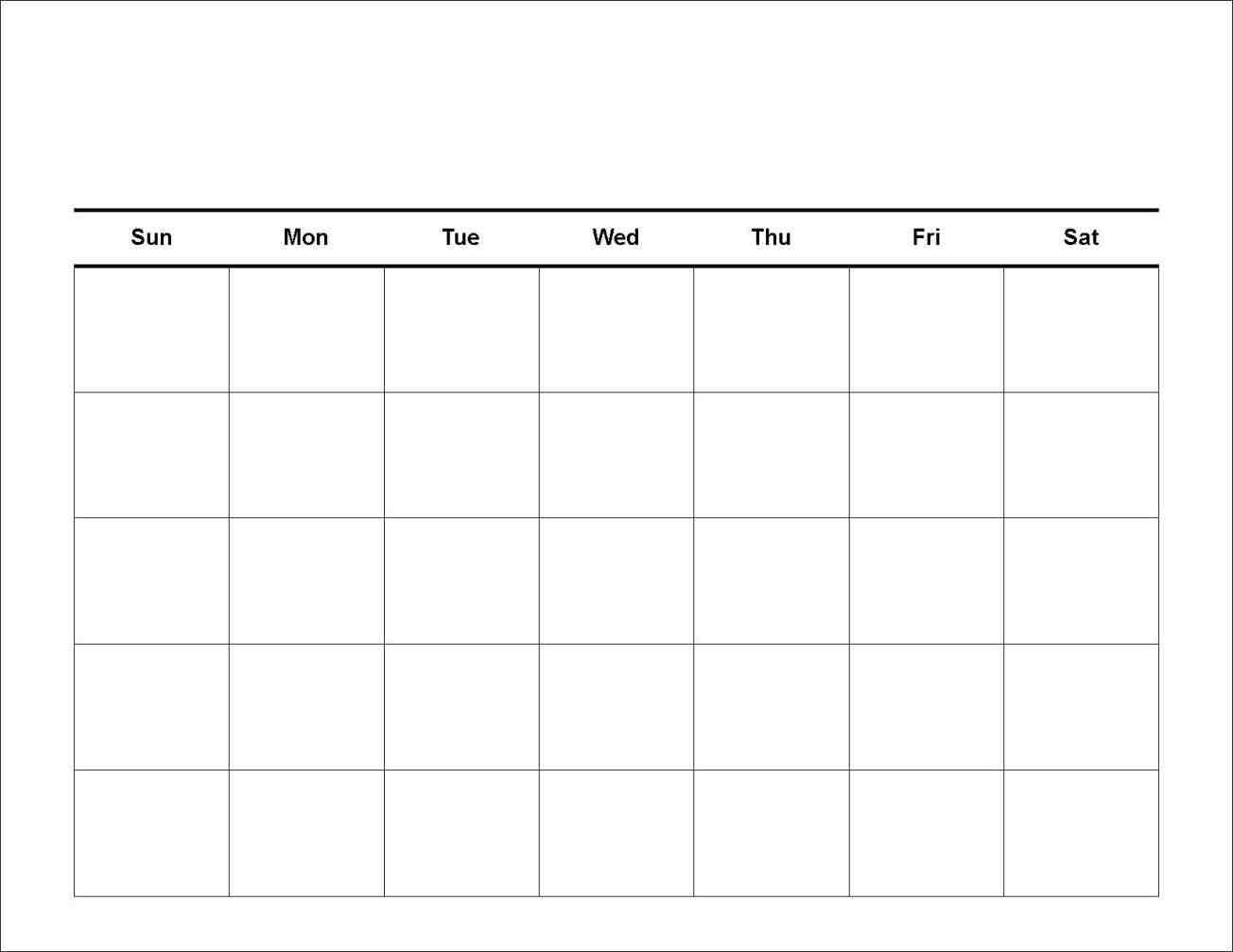 Blank Day Lendar Template Free Week Printable Schedule | Smorad_Blank 7 Week Calendar