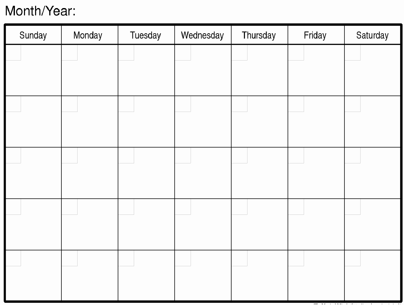 Blank Monthly Calendars To Print Free Calendar 2018 Printable_Free Calendar Blanks To Print
