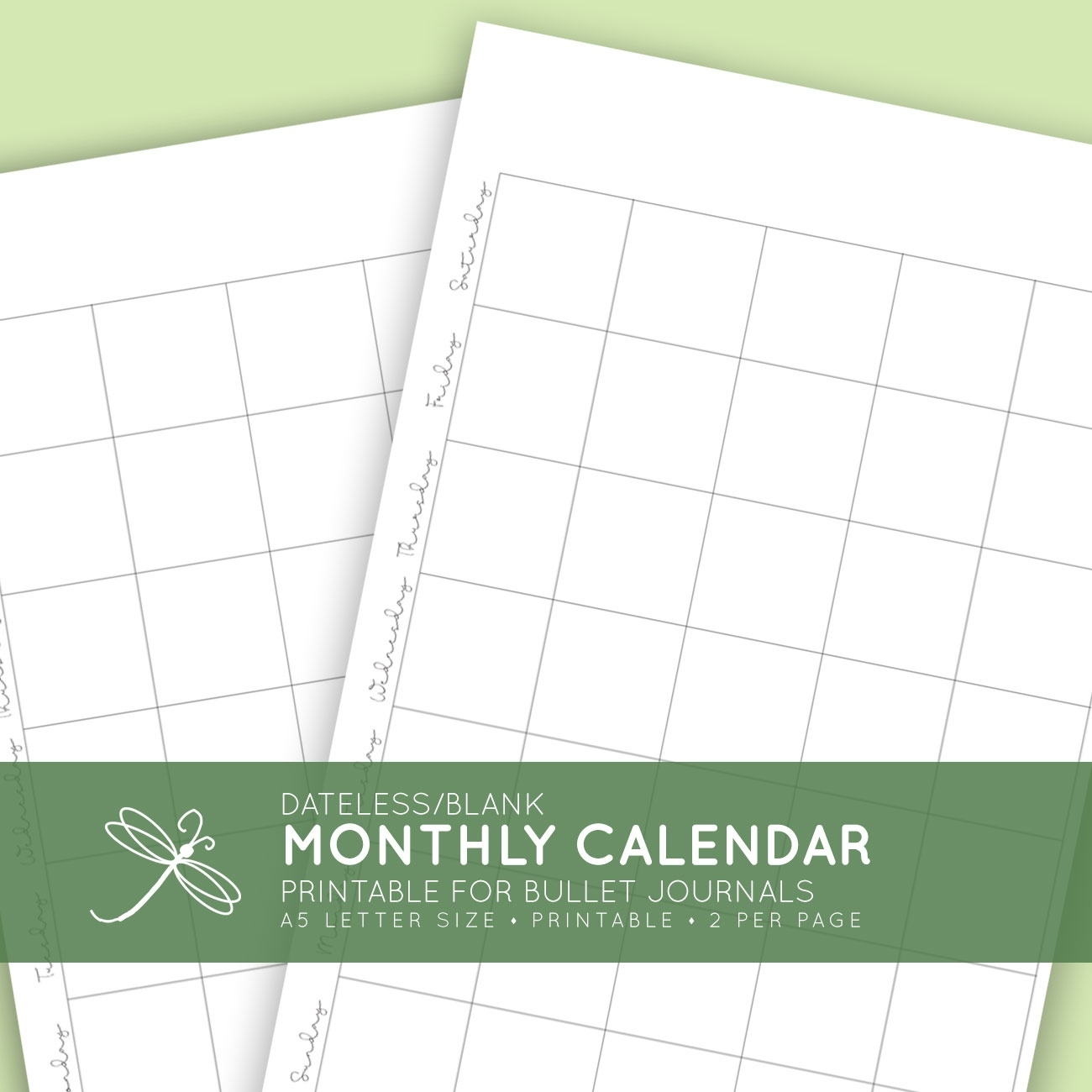 Blank Monthly Printable Calendar_8.5X 11 Blank Calendar