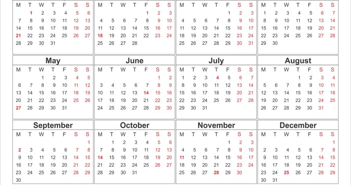Blank Printable Calendar 2019 With Holidays | Printableshelter_Blank Calendar With Holidays