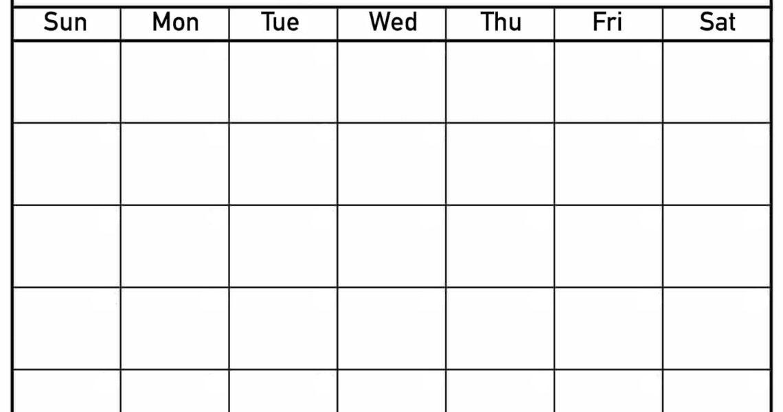 Blank Printable Calendar - Luxe Calendar_Blank Calendar Page Printable